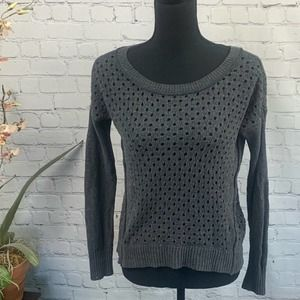 AMERICAN EAGLE | Charcoal Long Sleeve Sweater XS